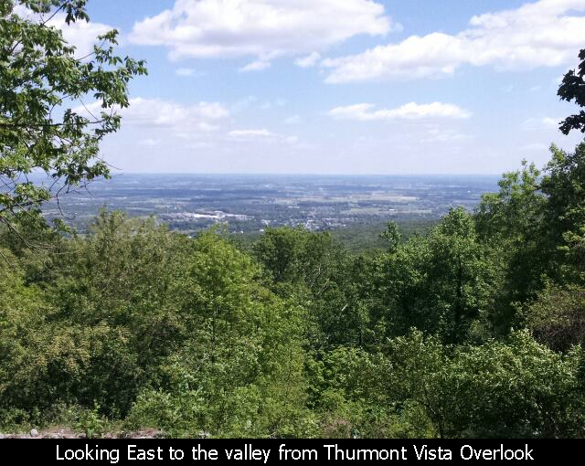 Looking East to the valley from Thurmont Vista Overlook