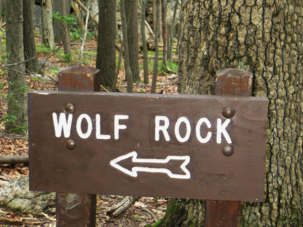 Wold Rock Sign at Catoctin Mountain Park