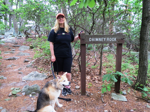 Chimney Rock Sign at Catoctin Mountain Park