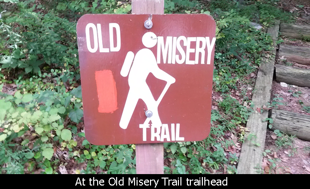 Old Misery Trailhead sign - Cunningham Falls State Park