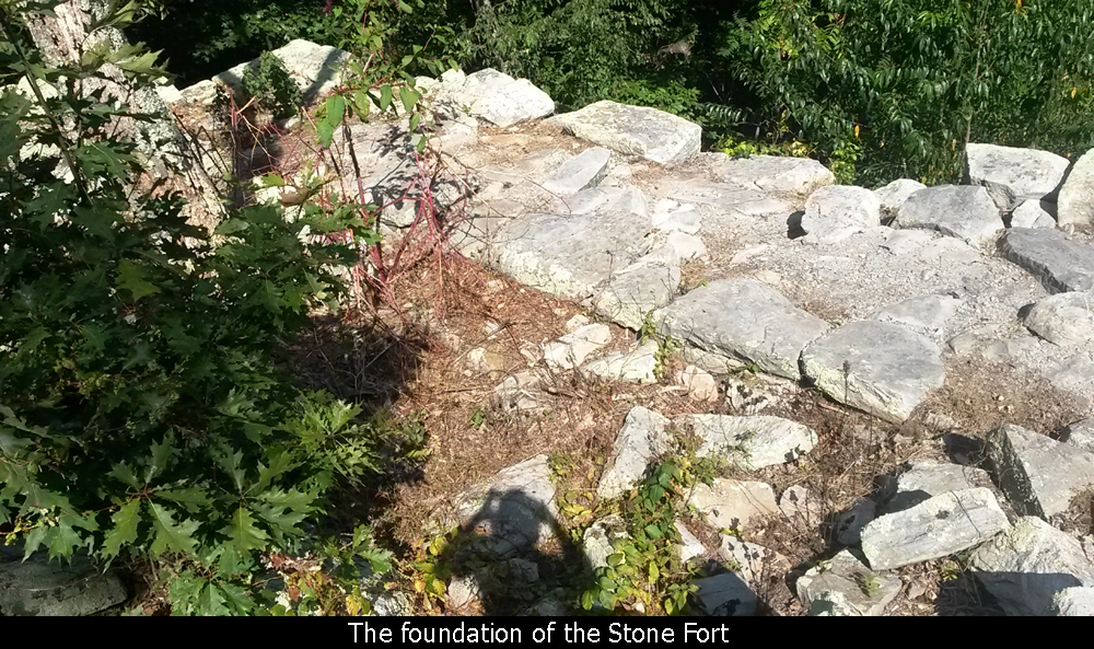 The foundation of the Stone Fort