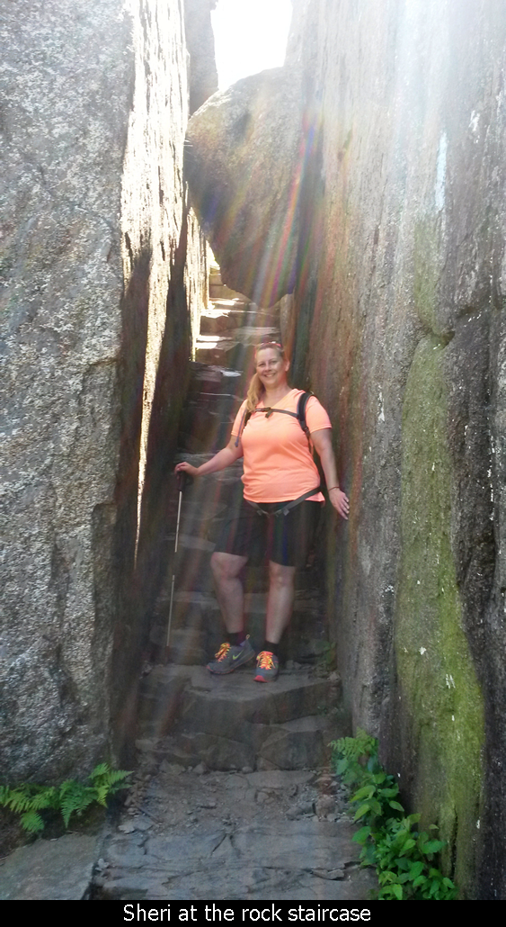 Sheri at the rock staircase