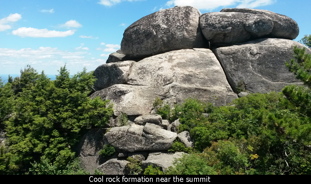 Cool rock formation near the summit