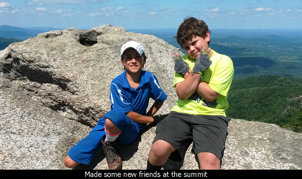 Made some new friends at the summit