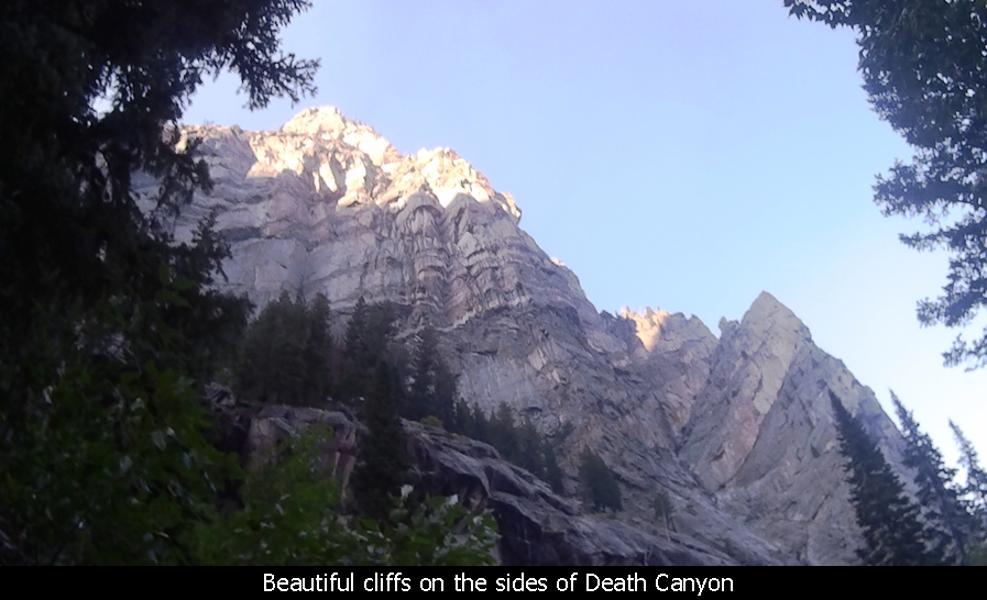 Beautiful cliffs on the sides of Death Canyon