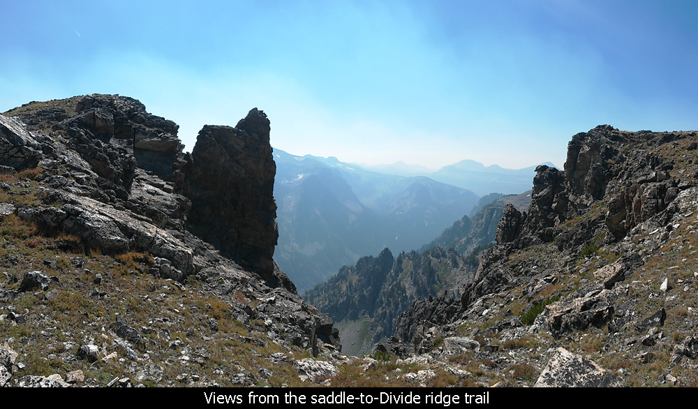 Views from the saddle-to-Divide ridge trail