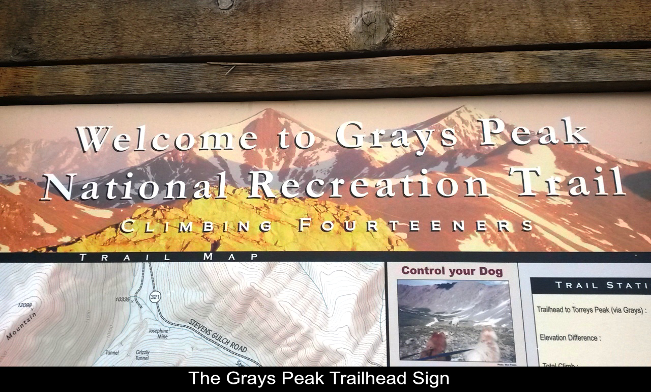 Grays Peak Trailhead Sign