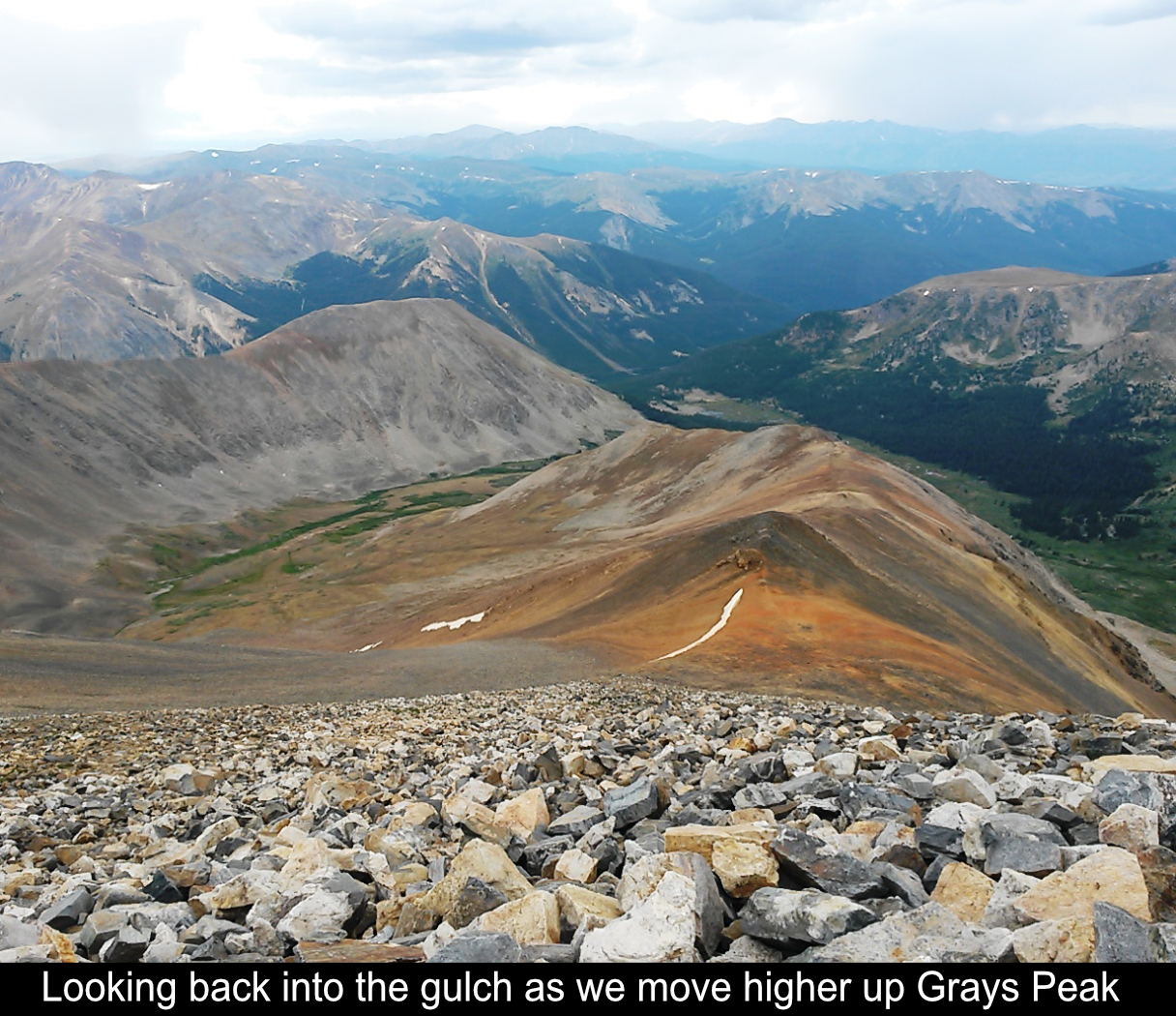 Moving Higher Up Grays Peak