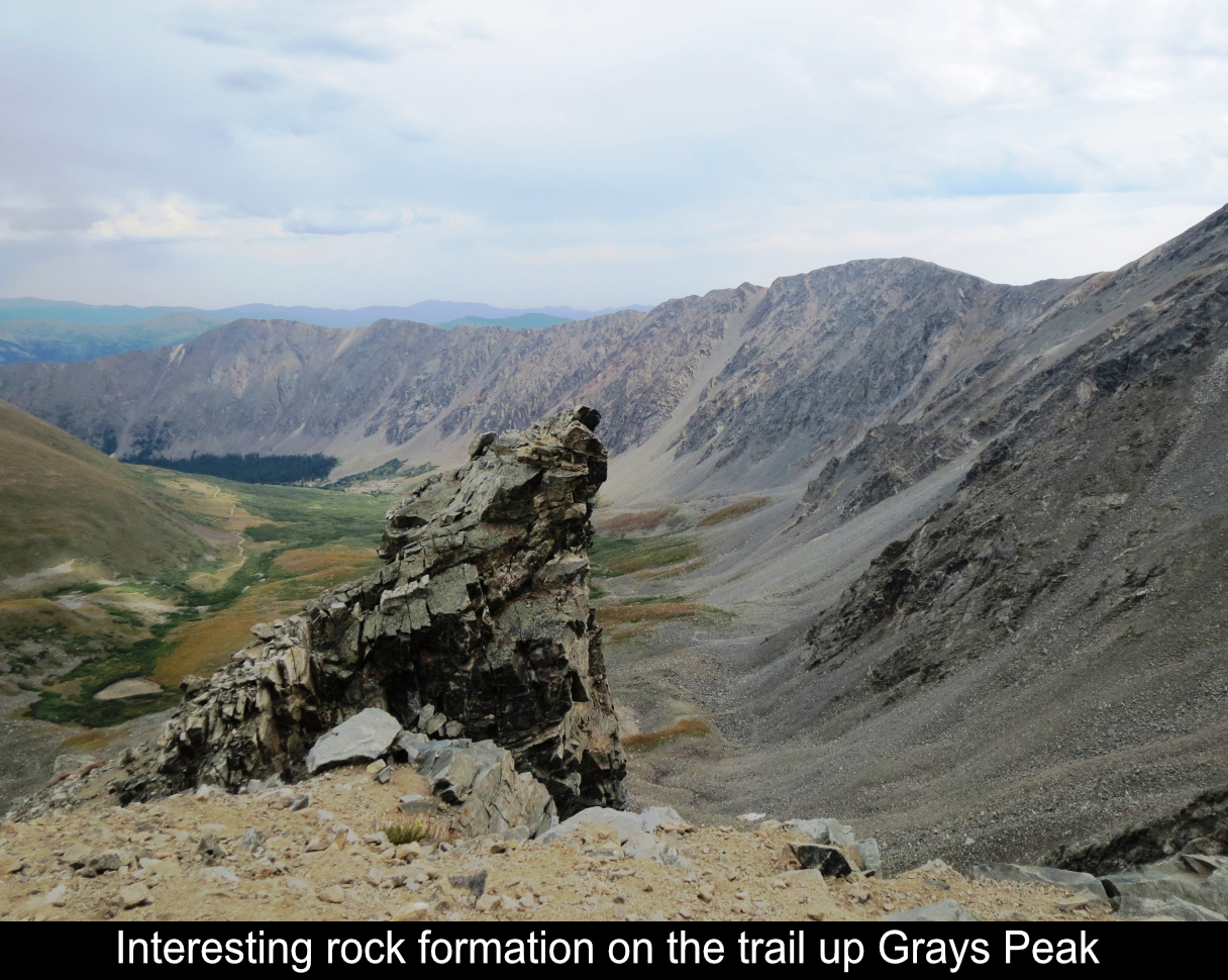 Interesting Rock Formation On Grays Peak