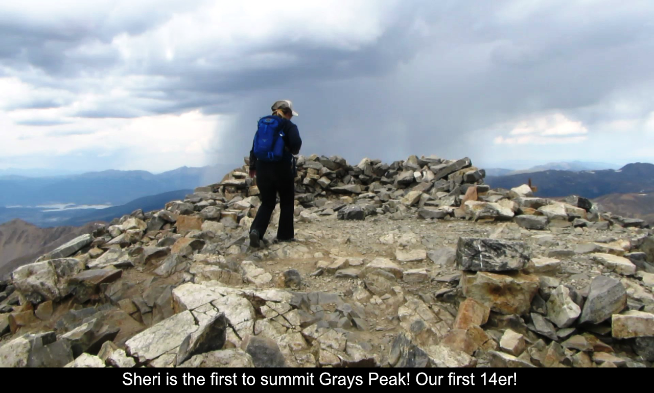 Sheri Is The First To Summit Grays Peak
