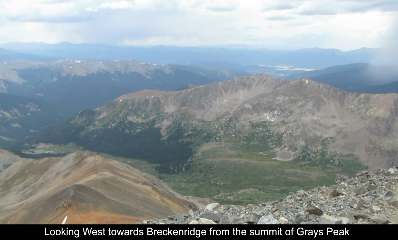 Looking West From The Summit Of Grays Peak
