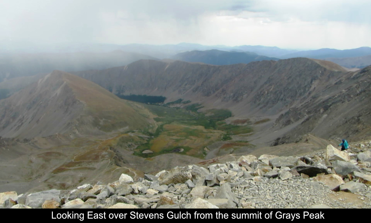 Looking East From The Summit Of Grays Peak