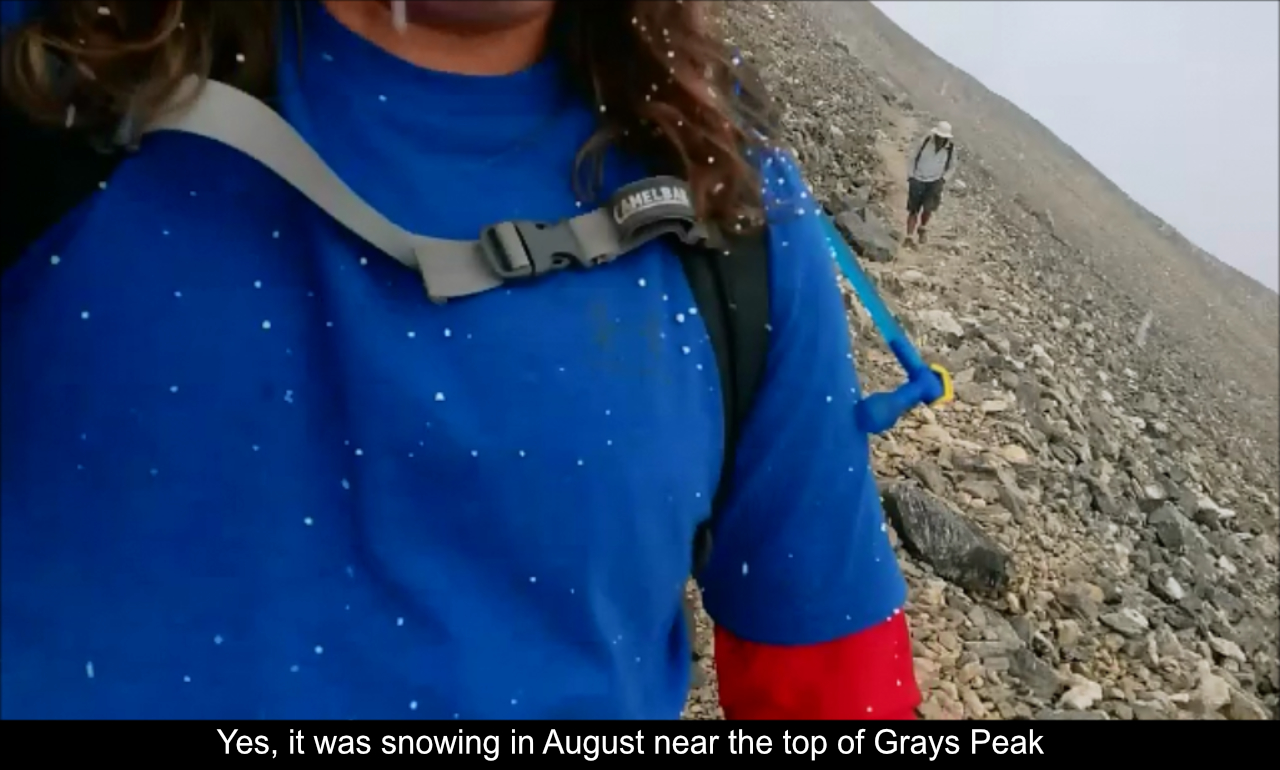 Snowing On Way Down Grays Peak
