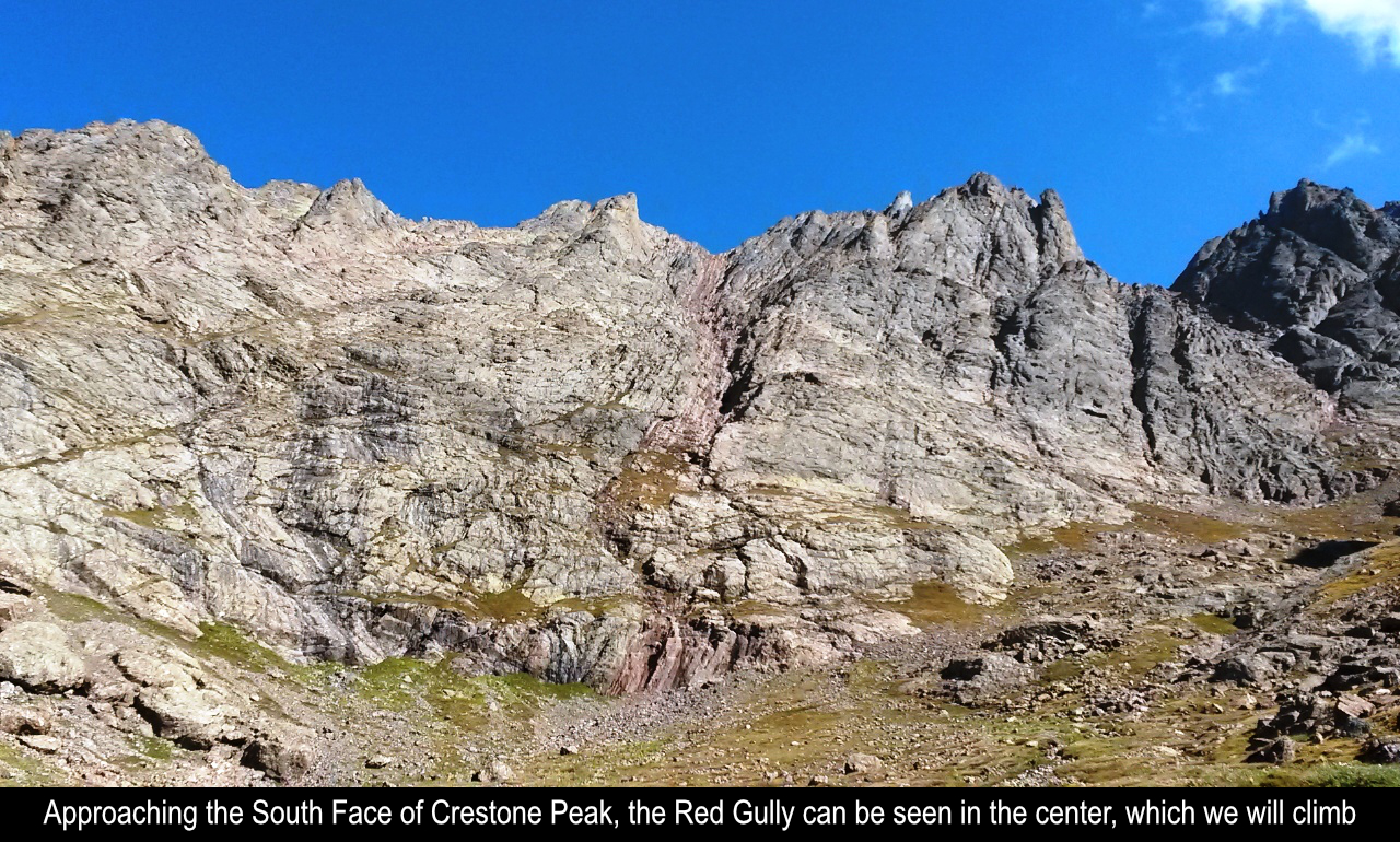The South Face Of Crestone Peak And Red Gully
