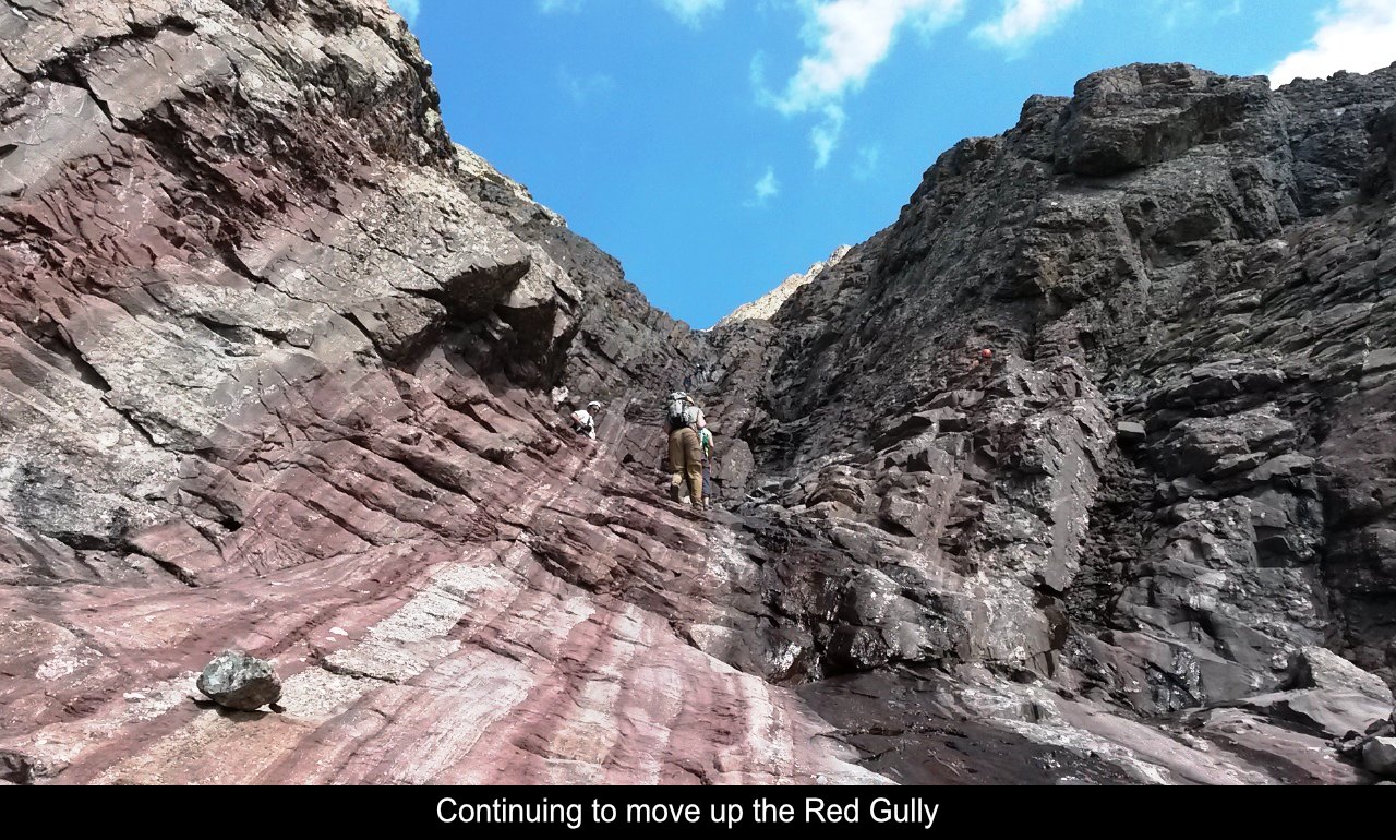 Moving Up The Red Gully