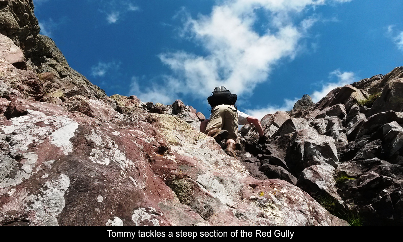 Tommy On Steep Section In The Red Gully