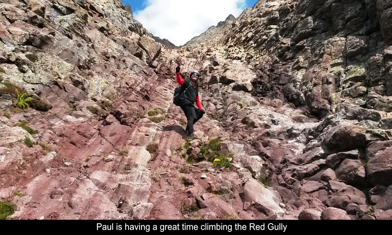 Paul Climbing The Red Gully