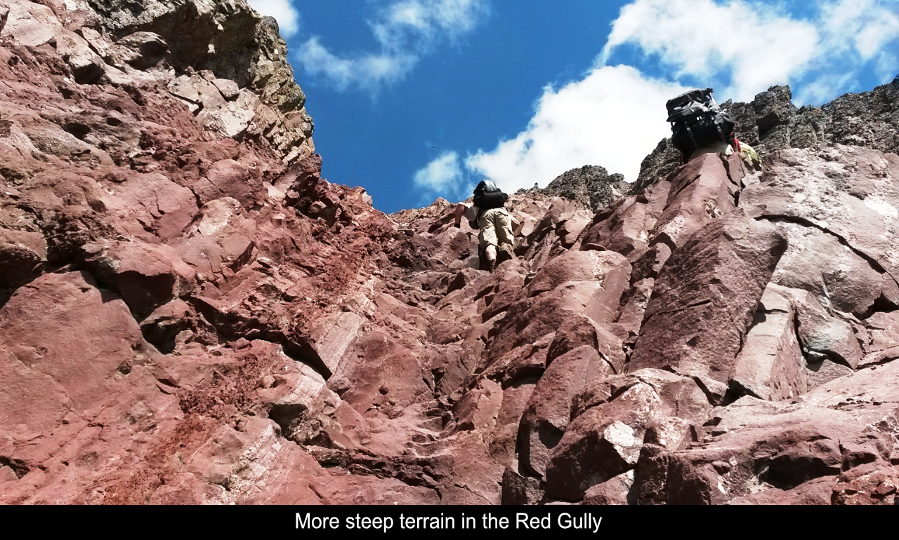 More Steep Terrain In The Red Gully