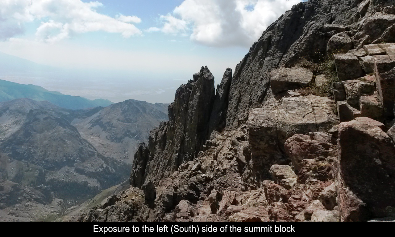 Exposure To The Left Side Of The Summit Block