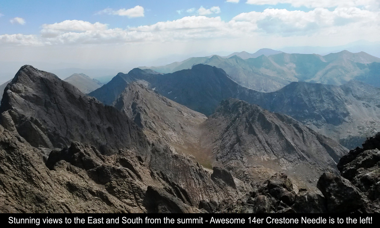 Awesome Summit Views With Crestone Needle In View