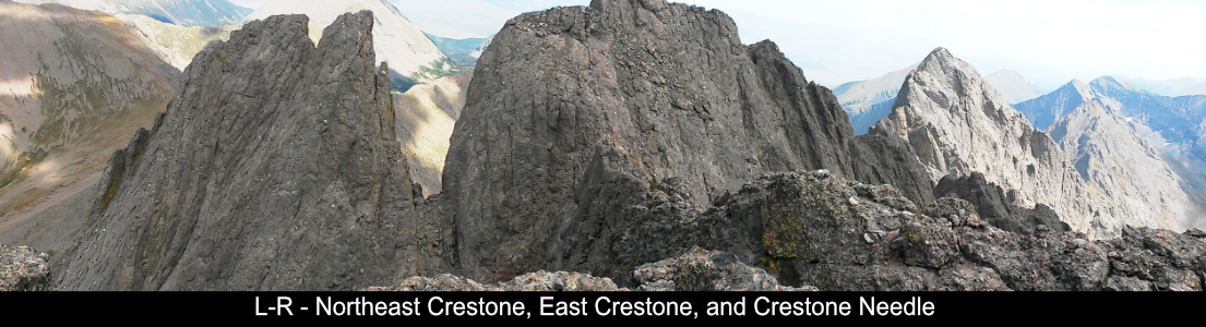 Northeast Crestone East Crestone And Needle