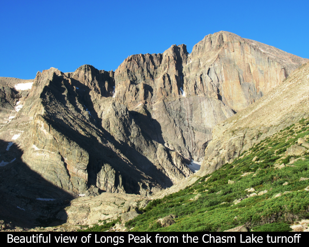 Longs From Chasm Lake Turnoff