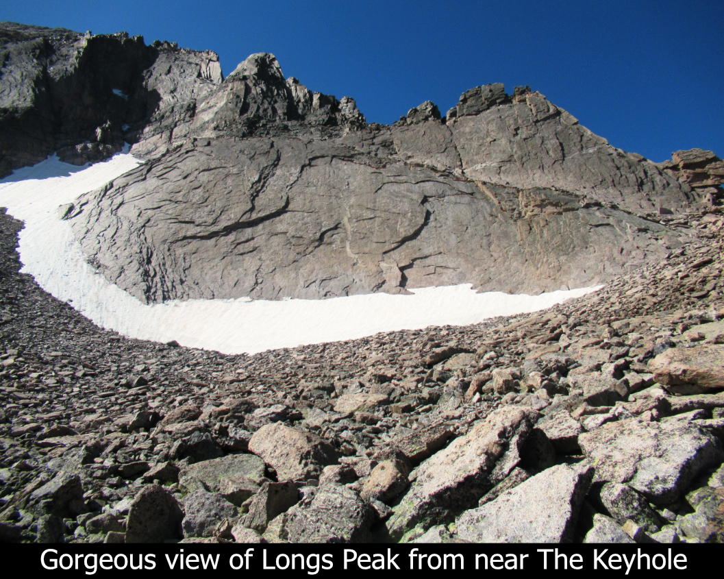 Gorgeous View Of Longs From Near Keyhole