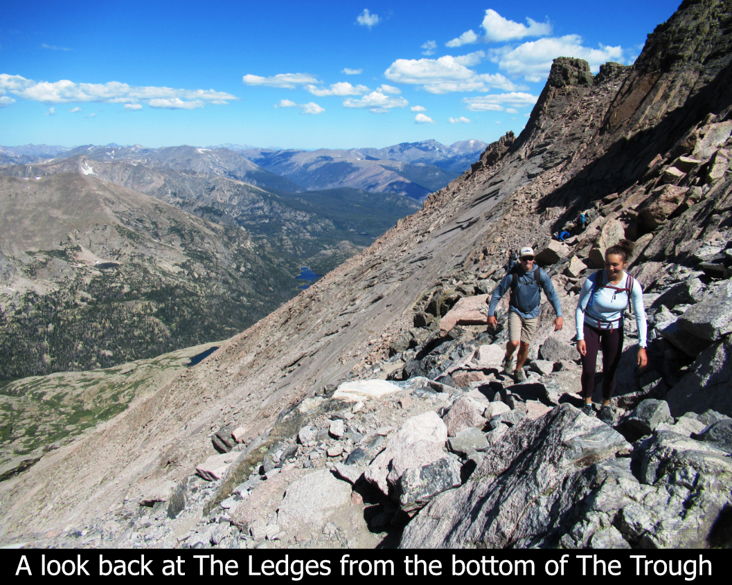 A Look Back At The Ledges On Longs Peak